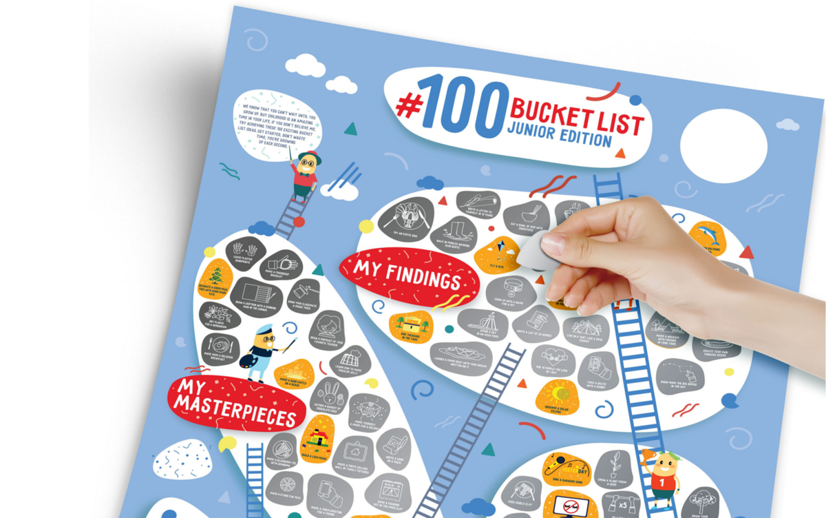 Plakat Zdrapka 100 Bucketlist Junior Edition