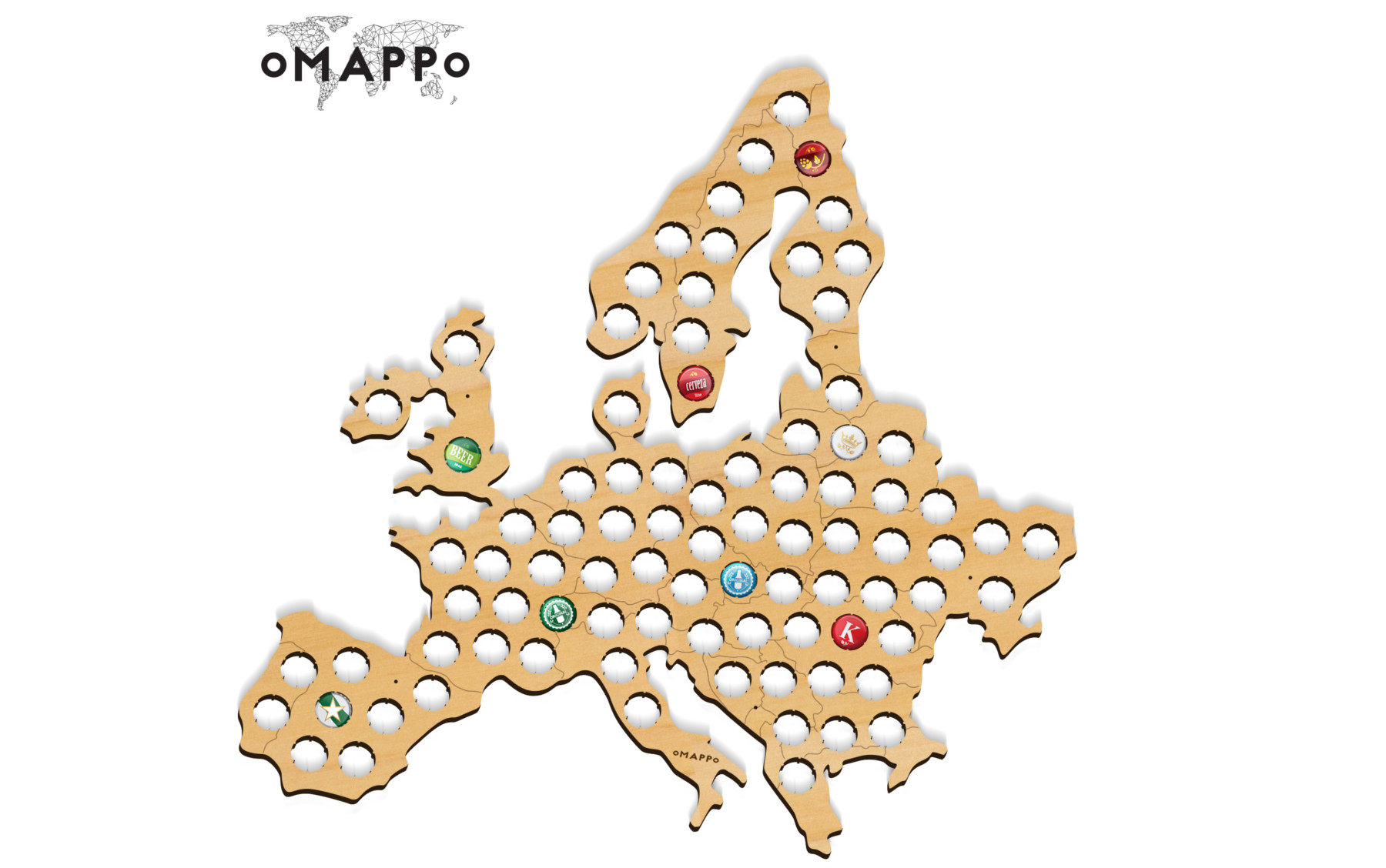 europe beer cap piwna mapa map kapsle www_3