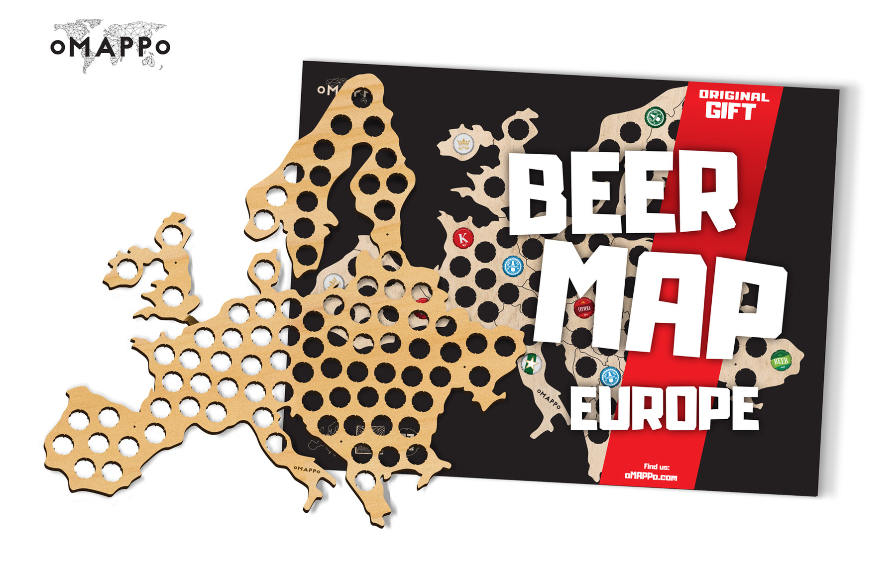 europe beer cap piwna mapa map kapsle www_5
